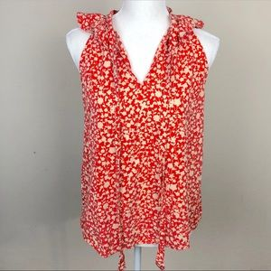 Marc by Marc Jacobs Silk Floral Sleeveless Top